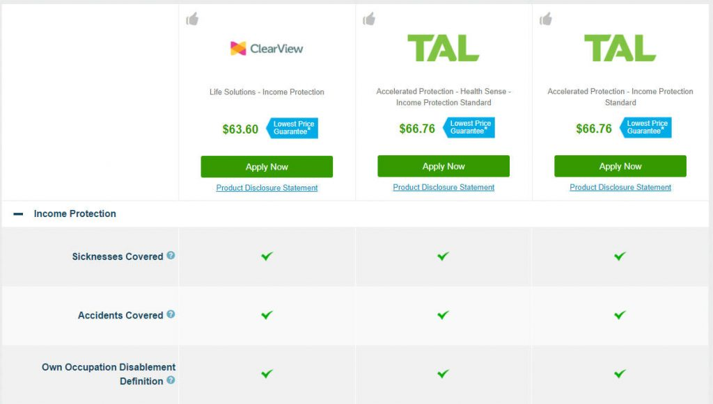 Income Protection Compare Tool